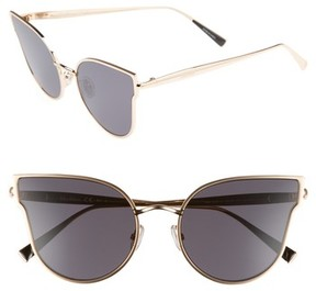 Max Mara Women's Ilde Iii 57Mm Mirrored Cat Eye Sunglasses - Black Gold