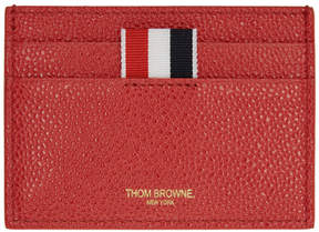 Thom Browne SSENSE Exclusive Red Single Card Holder
