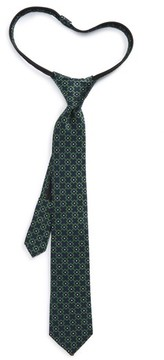 Nordstrom Boy's Medallion Silk Zip Tie