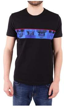 Iceberg Men's Black Cotton T-shirt.