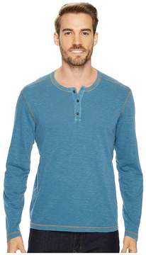 Agave Denim Pintail Long Sleeve Henley Slub Jersey Men's Long Sleeve Pullover