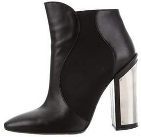Giambattista Valli Leather Round-Toe Ankle Boots