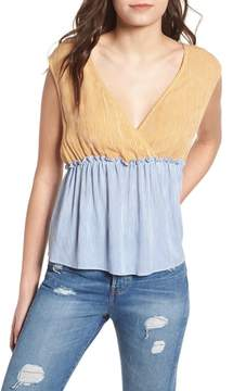 BP Mixed Stripe Tie Back Top