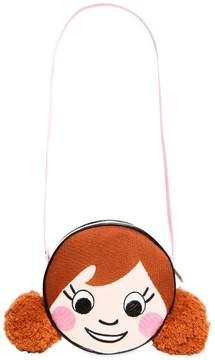 Simonetta Embroidered Neoprene Bag W/ Pompoms