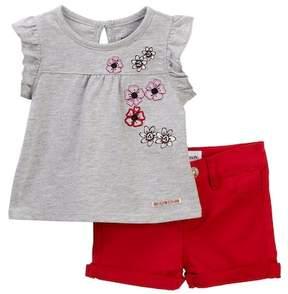 Hudson A-Line Floral Top & Shorts Set (Baby Girls)