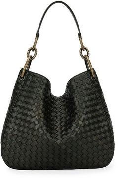 Bottega Veneta Loop Intrecciato Woven Hobo Bag