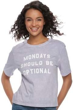 Fifth Sun Juniors' Mondays Should Be Optional Graphic Tee