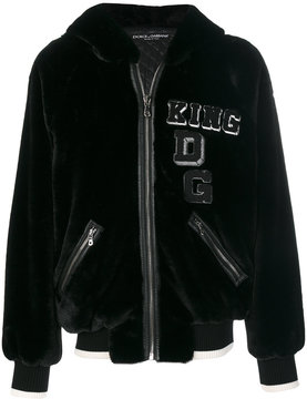 Dolce & Gabbana King patch bomber jacket