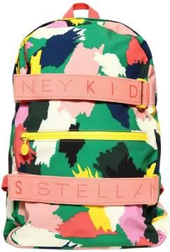 Stella McCartney Ski Camo Printed Nylon Backpack