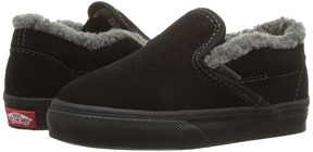 Vans Kids Classic Slip-On Black/Pewter/Black) Boys Shoes