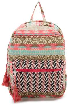 Kate Spade America & Beyond Woven Jacquard Backpack - PINK/MULTI - STYLE