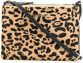 Twin-Set leopard print shoulder bag
