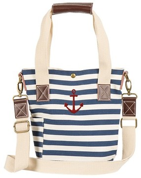 Cathy's Concepts Anchor Stripe Wine Tote - Blue