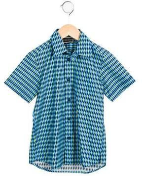 Versace Boys' Geometric Button-Up Shirt w/ Tags