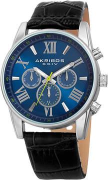 Akribos XXIV Swiss Quartz Multifunction Dual-Zone Watch, 41mm