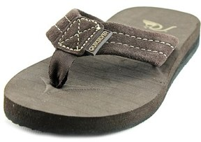 Quiksilver Carver Open Toe Suede Thong Sandal.
