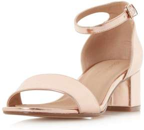 Head Over Heels *Head Over Heels By Dune Rose Gold 'Ireena' Sandals