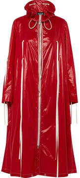 Calvin Klein Oversized Coated-shell Jacket - Red