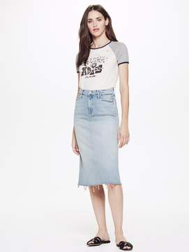 Mother Swooner Straight A Fray Skirt - Pretty Please