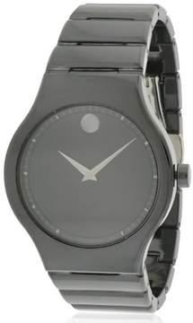 Movado Cerami Black Ceramic Mens Watch 0607047