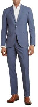 Kenneth Cole New York Reaction Kenneth Cole Textured Slim Fit Nested Suit - Men's