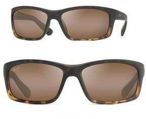 Maui Jim Men's Kanaio Coast 61Mm Polarizedplus2 Sunglasses - Matte Tortoise Ombre/ Bronze