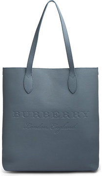 Burberry Embossed leather tote bag - SLATE GREEN - STYLE