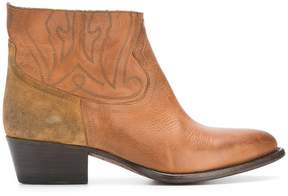 Buttero western ankle boots