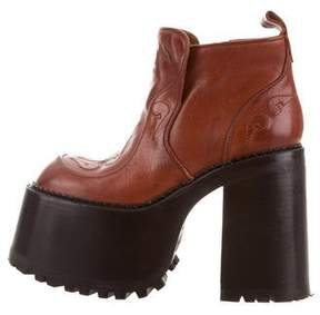 Marc Jacobs Platform Leather Booties