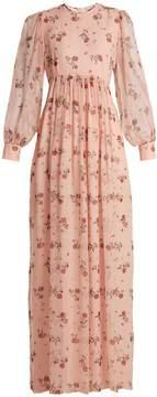 Emilia Wickstead Pia rose-print silk-chiffon dress