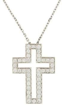 Boucheron 18K Diamond Cross Pendant Necklace