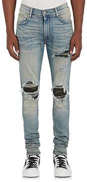 Amiri Men's MX1 Camouflage-Inset Slim Jeans