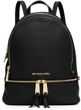 Michael Michael Kors 'Extra Small Rhea Zip' Leather Backpack - Black