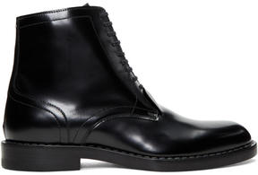 Maison Margiela Black Leather Lace-Up Boots