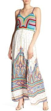 Hale Bob Crochet Print Maxi Dress
