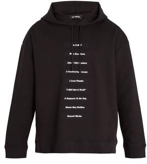 Raf Simons Lyrics-print cotton-jersey hooded sweatshirt