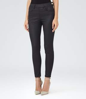 Reiss Hedy Coated Coated Cropped Jeans