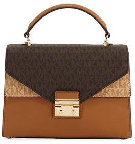 MICHAEL Michael Kors Sloan Medium Double Flap Satchel Bag