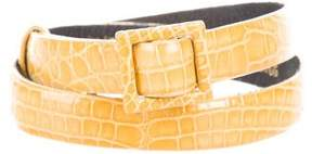 Oscar de la Renta Alligator Waist Belt
