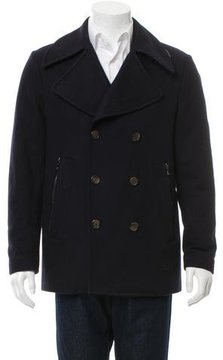 Michael Kors Wool Double-Breasted Peacoat