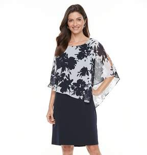 Connected Apparel Women's Popover Floral Dress