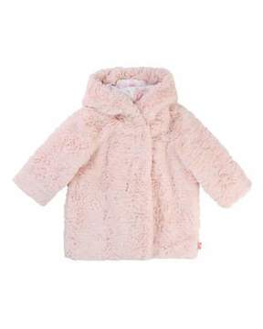 Billieblush Faux-Fur Hooded Coat, Size 12-18 Months