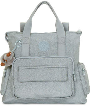 Kipling Alvy Convertible Medium Satchel Backpack - SILVER GLIMMER METALLIC - STYLE