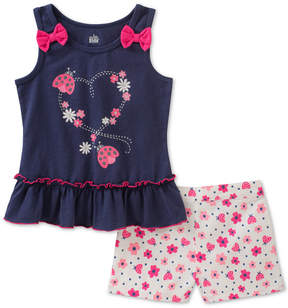 Kids Headquarters 2-Pc. Top & Floral-Print Shorts Set, Baby Girls