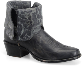 Sonora Gray Cassidy Fold-Over Leather Ankle Boot