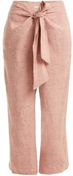 Masscob Tie-waist straight-leg linen trousers