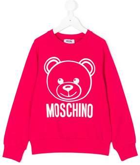Moschino Kids teddy print logo sweatshirt