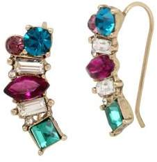 Betsey Johnson Mystic Baroque Queens Multicolored & Multi-Shaped Stones Earrings Crawler