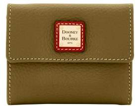 Dooney & Bourke Pebble Grain Small Flap Wallet - OLIVE - STYLE