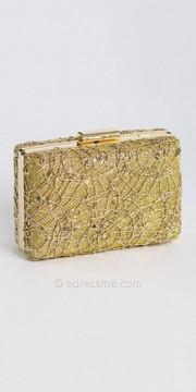 Camille La Vie All Glitter Stone Top Closure Box Bag